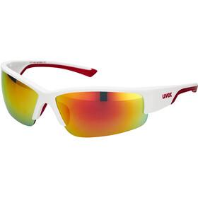 UVEX Sportstyle 215 Sportglasses, white mat red/red